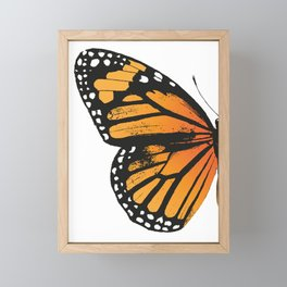 Monarch Butterfly | Left Wing Framed Mini Art Print