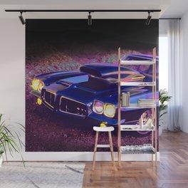 Classic Hot Rod in Magic Blue: Full Throttle! Wall Mural
