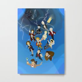 All the Doctors in the Time Vortex Metal Print