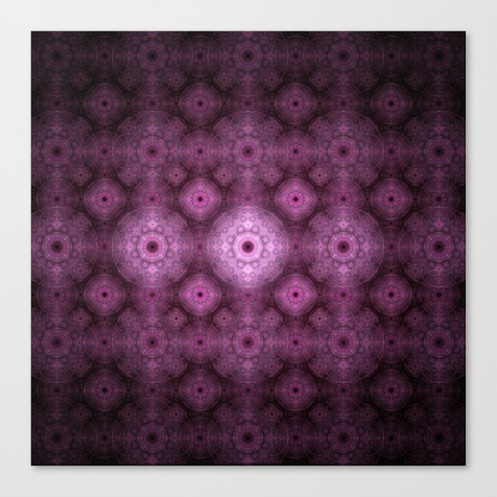 Pink Fractal Pattern Canvas Print