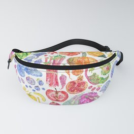 Rainbow of Fruits and Vegetables Fanny Pack