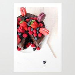 Chocolate Berry Extravaganza Art Print