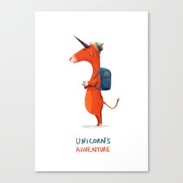 Unicorn's adventure Canvas Print