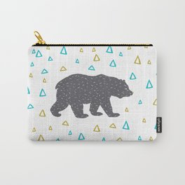 Digital Bear Print Carry-All Pouch