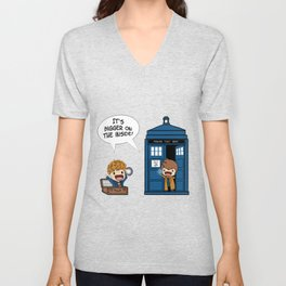 Doctor Who - It's Biggers on the inside Unisex V-Neck