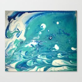 sea foam blown Canvas Print