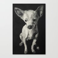 chihuahua Canvas Prints featuring Chihuahua dog  by Sara.pdf