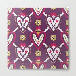 Sacred Heart Pattern Metal Print