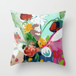 spring bloom abstract Throw Pillow