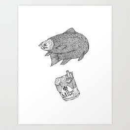 Fish Smokes Art Print