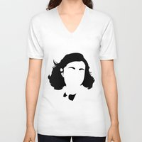 my mad fat diary V-neck T-shirts featuring Faceless Frank's Diary by StayDry