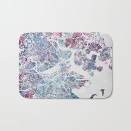 Boston map Bath Mat