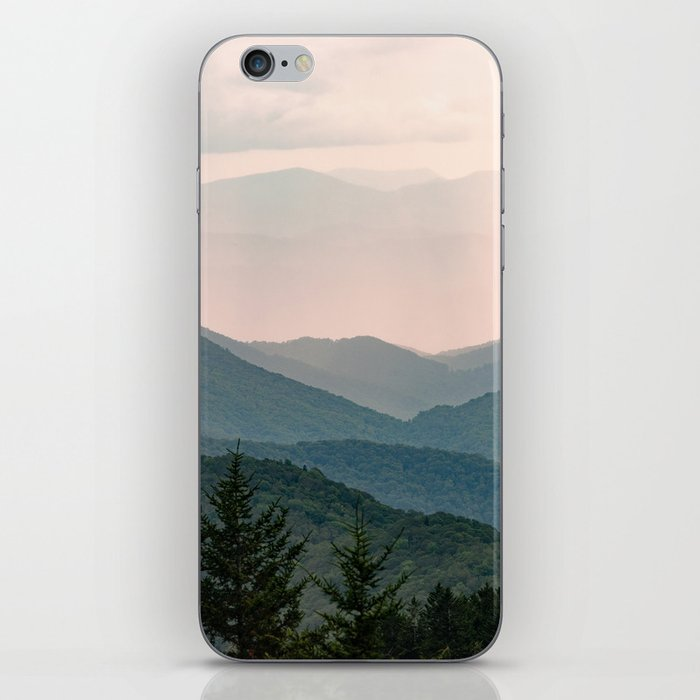 Smoky Mountain Pastel Sunset iPhone Skin