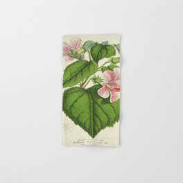 Vintage Botanical Floral Flower Plant Scientific Hand & Bath Towel