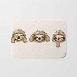 No Evil Sloth Bath Mat