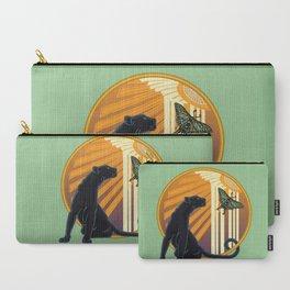 Jaguar Plain Art Deco Carry-All Pouch