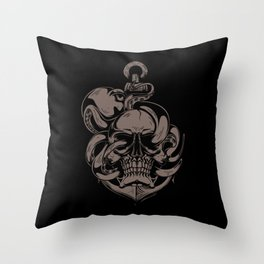 Skull And Octopus | Heavy Metal Throw Pillow