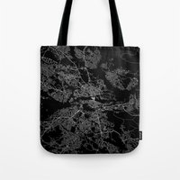 stockholm Tote Bags featuring Stockholm  by Line Line Lines
