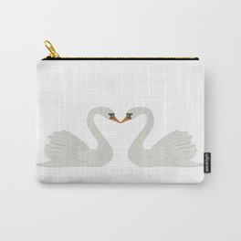 Two Swans a Swimming Carry-All Pouch