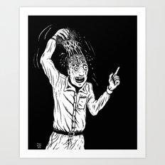 Monday stress Art Print