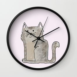 Cute and lovely cat Lupita Wall Clock