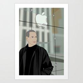 Steve Jobs on 5th Avenue Art Print