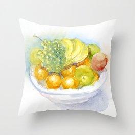 Fruitbowl Throw Pillow