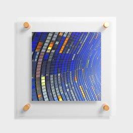 Big Blue Blocks Floating Acrylic Print