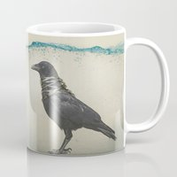 band Mugs featuring Raven Band by Vin Zzep
