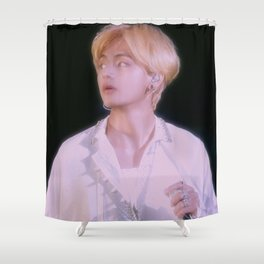 taehyung in white Shower Curtain