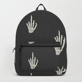Fuck you middle finger skull ugly Christmas Backpack