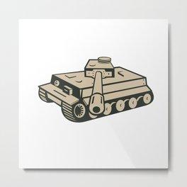 World War Two German Panzer Tank Aiming Metal Print