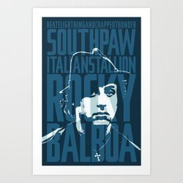 Rocky Balboa Minimal Vector Film Poster Art Print
