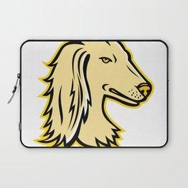 Saluki or Persian Greyhound Mascot Laptop Sleeve