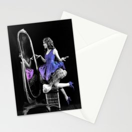 Through the Looking Glass Blue Purple Stationery Cards