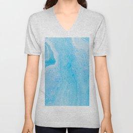 Light Blue Watercolor Unisex V-Neck