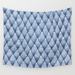 blue scaley pattern Wall Tapestry