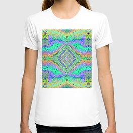 Flowing Life Art Fractal 2 Double T-shirt