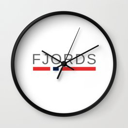Norway Fjords Wall Clock