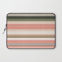 minimalistic horizontal stripes pattern cl Laptop Sleeve