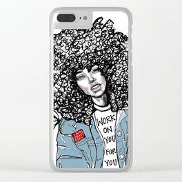 #STUKGIRL ALIANA Clear iPhone Case