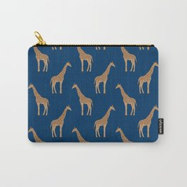 Giraffe african safari basic pattern print animal lover nursery dorm college home decor Carry-All Pouch