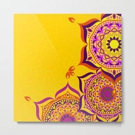 Diwali mandala Metal Print