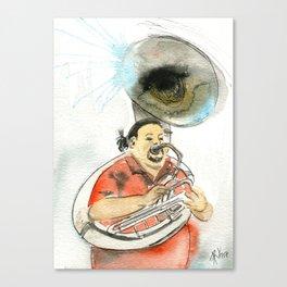 Ensenada´s Sousaphone Canvas Print