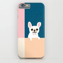 Little_French_Bulldog_Love_Minimalism_001 iPhone Case