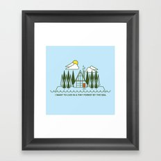 Tiny Forest by the Sea Framed Art Print
