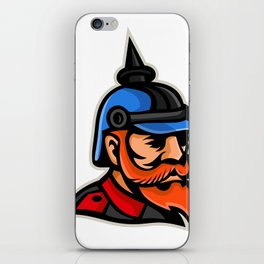 Prussian Officer Mascot iPhone Skin