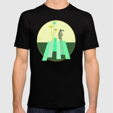 The penguin who wanted to be a tucan on its iceberg Black Mens Fitted Tee LARGE