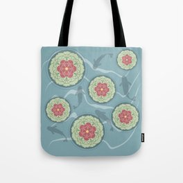 Koi Lotus Pond Tote Bag