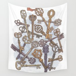 Unlocking Secrets Wall Tapestry